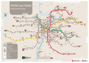 Mapa metro y tranvia Praga